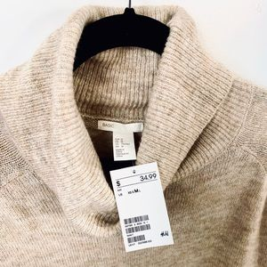 NWT H&M cowl necked sweater